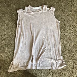 Wilt clothing cold shoulder cutout tee